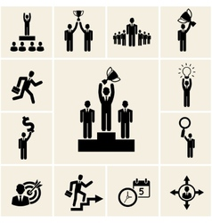 Set business and career icons vector