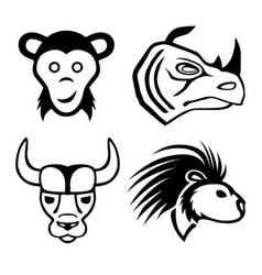 set of animal signs vector image