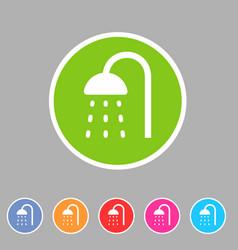 Shower douche icon flat web sign symbol logo label vector