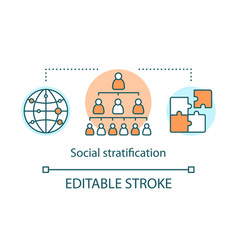 Social satisfaction concept icon social hierarchy vector