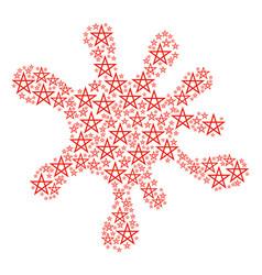 splash collage of star pentagram icons vector image