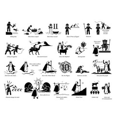 Story moses and exodus bible christian story vector