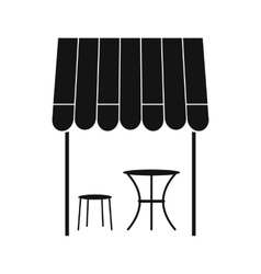 Street french cafe icon simple style vector image