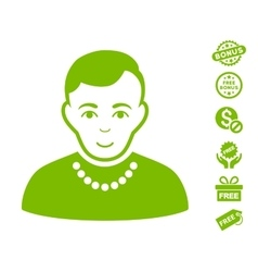 Trendy Guy Icon With Free Bonus vector