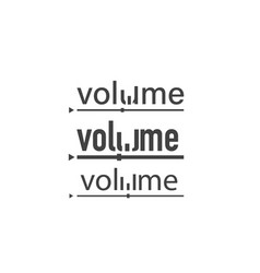 volume set volume logo text volume on white vector image