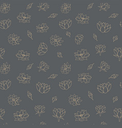Waterlily flowers seamless pattern vector