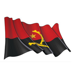 Waving flag angola vector