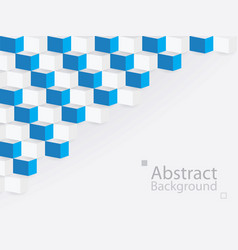 white blue abstract background square 3d modern vector image