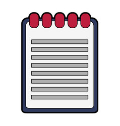 Wired notebook icon image vector