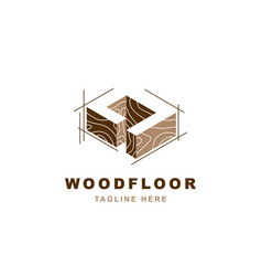 Wood logo with letter d shape vector