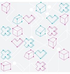 Abstract geometric shapes seamless pattern vector image vector image