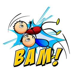 Bam logo vector image vector image
