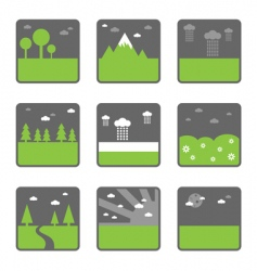 landscape squares vector image vector image