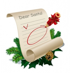 letter to Santa Claus vector image vector image