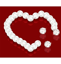 pearl beads for valentine day vector image vector image