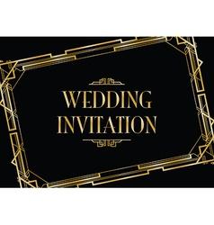 art deco gatsby wedding vector image