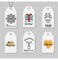Christmas and new year gift tags shopping and vector