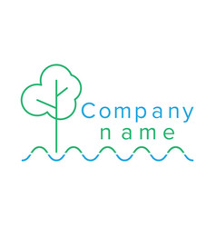 contour logo for company vector image vector image
