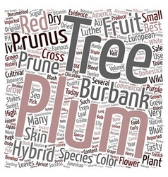 History Of Plum Trees And Their Hybrids text vector image vector image