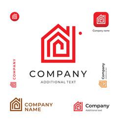 house construction modern logo building business vector image