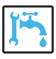 Plumbing Framed Icon vector image vector image