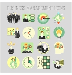 set of a business and management icons vector image vector image