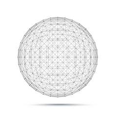 geometric wire mesh sphere vector image vector image