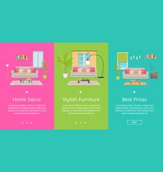 home decor stylish furniture vector image