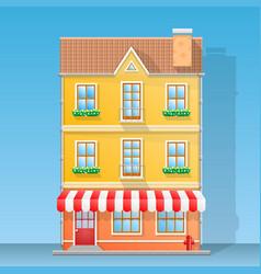 house shop flat vector image