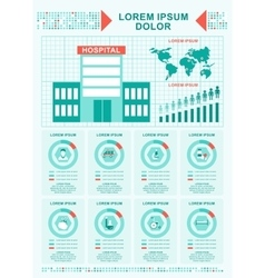 medical concept hospital infographics vector image vector image