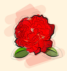 rose in tattoo style vector image vector image