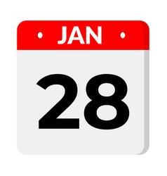 28 january calendar icon vector
