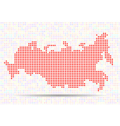 abstract map of russia colorful dots vector image