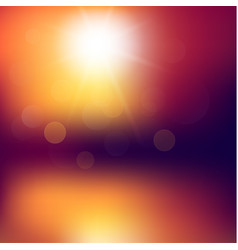 abstract sunset background vector image
