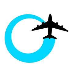 Airplane flying icon vector
