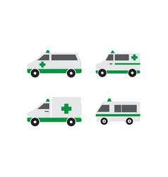 Ambulance icon design template isolated vector