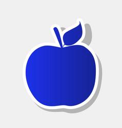 Apple sign new year bluish vector