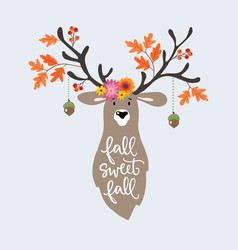 Autumn greeting card invitation hand drawn vector