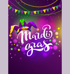 Banner for carnival mardi gras garland flag vector