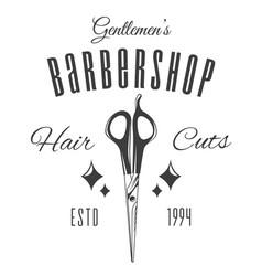 barber scissors gentlemen s barbershop shaving vector image