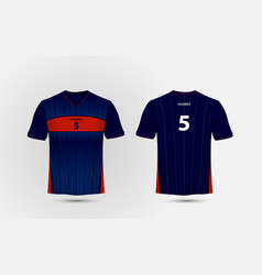 blue and red layout sport t-shirt kits jersey vector image