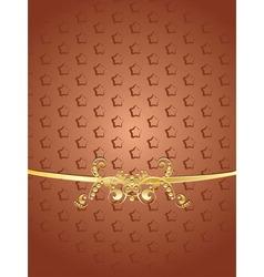 Brown decorative background vector