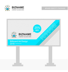 Business bill board design with cyber security vector