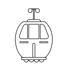 Cable car transport image vector