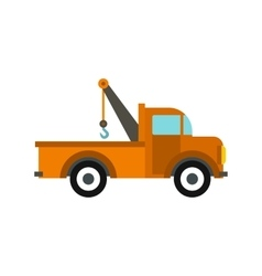 Car tow truck icon flat style vector image