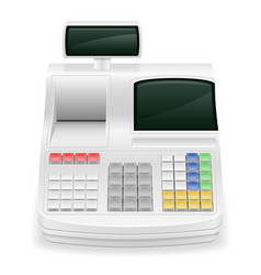 Cash register stock vector