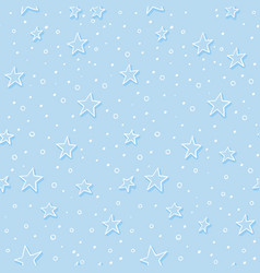 christmas stars ans snow night seamless pattern vector image