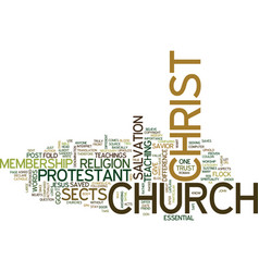 church christ and protestant sects vector image