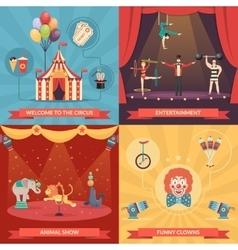Circus Show 2x2 Design Concept vector