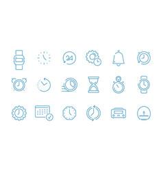 clock pictograph set fast time management computer vector image